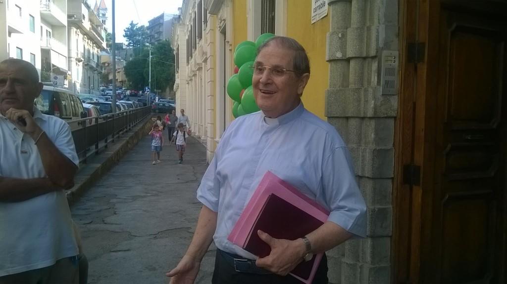 Don Umberto Romeo presidente della Cooperativa Scuola Savio