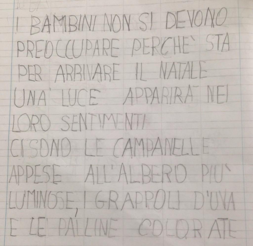 Poesia creata dai bambini di Prima
