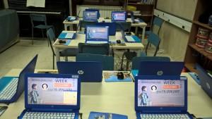 La Biblioteca aula informatica